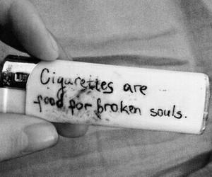 cigarette, broken, and soul image