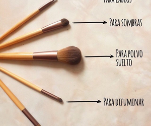 Brushes, makeup, and máquillaje image