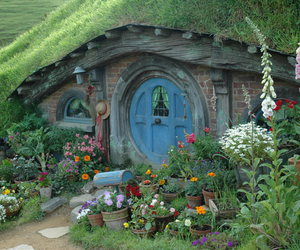 hobbit house, new zealand, and the shire image