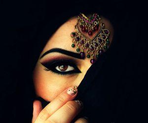 eyes, hijab, and muslim image