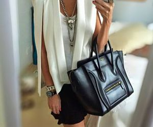 black and white, celine, and chic image