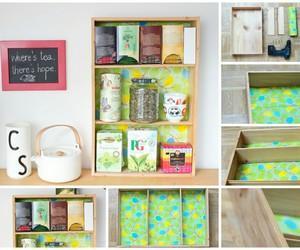 diy, organizer, and tea image