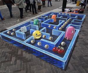 pacman, art, and street art image