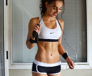 abs, sports bra, and fitness image