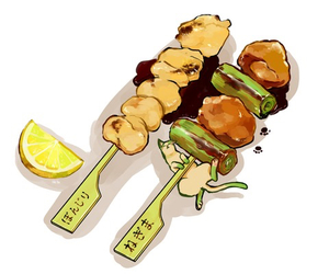 animation, barbecue, and food image