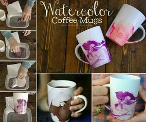coffee, colors, and diy image