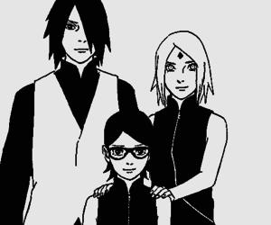 manga, sasusaku, and uchiha sasuke image