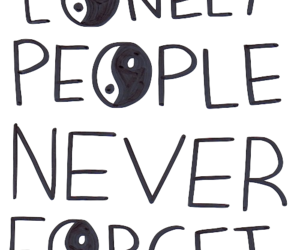 lonely, forget, and people image