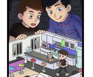 sims, amazingphil, and danisnotonfire image