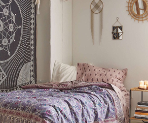 bedroom, room, and boho image