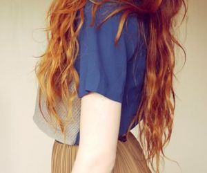 beauty, gold, and hair image