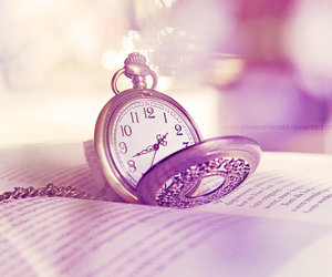 antique, pocket watch, and purple image