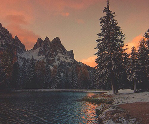 nature, mountains, and sunset image