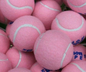 pink, tennis, and ball image