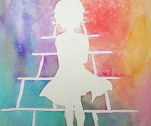 art, girl, and wallpaper image