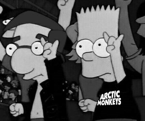 arctic monkeys, music, and simpsons image
