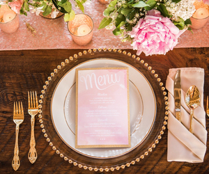 bouquet, flowers, and fork image