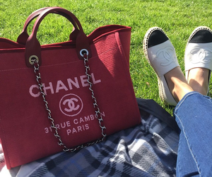 chanel, red, and style image