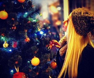 christmas, blonde, and girl image