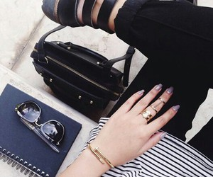 airport, black, and fashion image