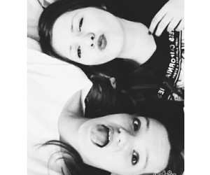 best friends, crazy, and black and white image