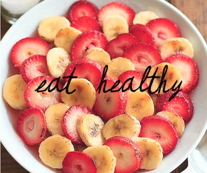 healthy, food, and banana image