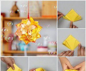 flowers and origami image