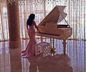 piano, dress, and luxury image