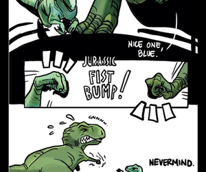 blue, funny, and raptor image