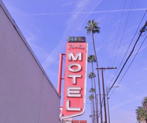 motel, california, and girl image