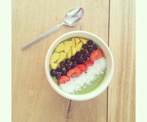 banana, blueberry, and bowl image