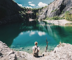 boy, summer, and travel image