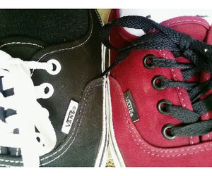 red vans, shoes, and vans image