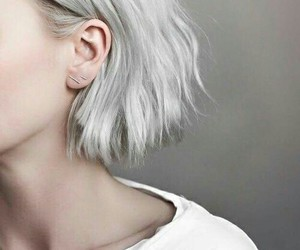 fashionable, pale, and grey hair image