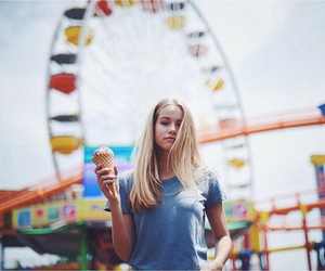 girl, ice cream, and blonde image