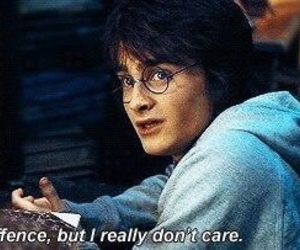 harry potter and i dont care image