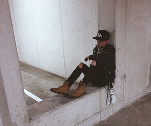 alone, bandana, and jeans image