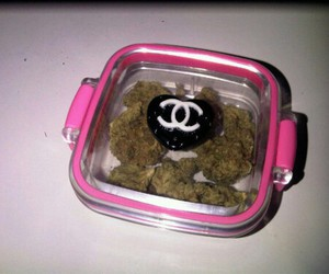chanel, weed, and pink image