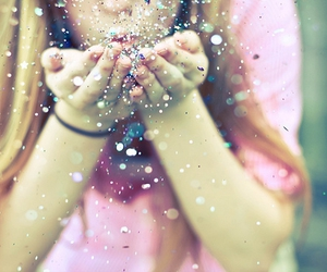 girl, glitter, and pink image