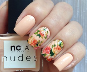 beauty, floral design, and nail art image