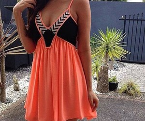dress, orange, and vestidos image