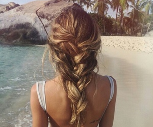 beach, blond, and travel image