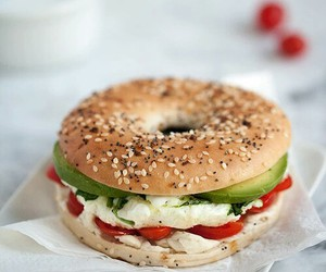 bagel, hungry, and yummy image