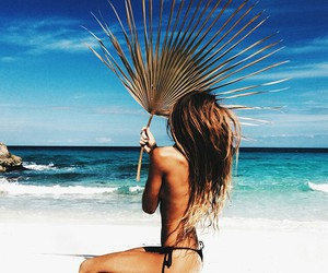 beach, hairstyle, and travelling image