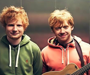 harry potter, weasley, and ed sheeran image
