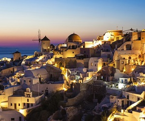 city, Greece, and Houses image