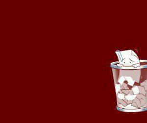 afraid, basket, and garbage image