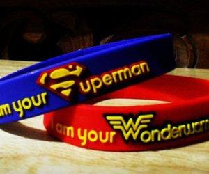 superman, couple, and wonderwoman image