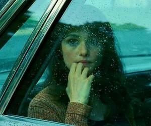 girl, car, and rain image