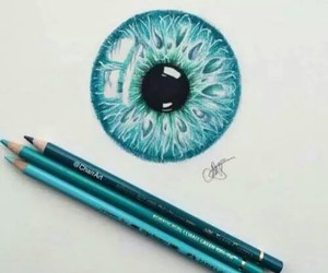 art, blue, and eye image
